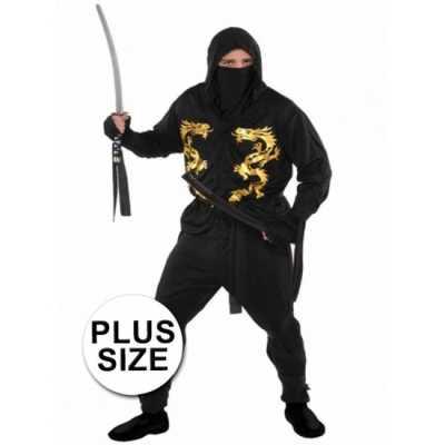 Grote maten ninja feest outfit heren
