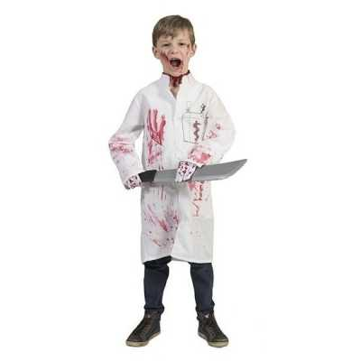Halloween bloederige doktersjas jongens