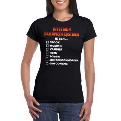 Halloween halloween feest outfit lijstje t shirt zwart dames