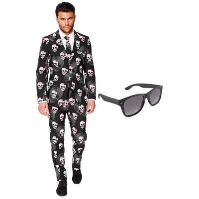 Halloween heren feest outfit maat 54 (xxl) gratis zonnebril