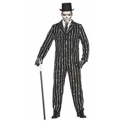 Halloween luxe 3 delig skeletten feest outfit heren