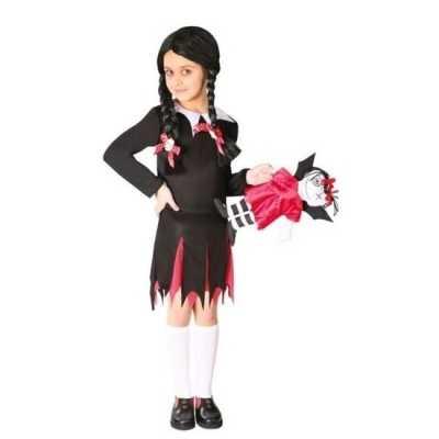 Halloween wednesday verkleed jurk meisjes