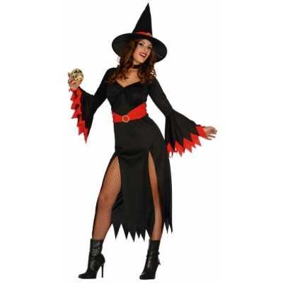 Heksen kleding zwarte jurk dames
