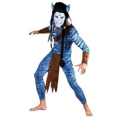 Heren Blauwe jungle strijder carnavalskleding