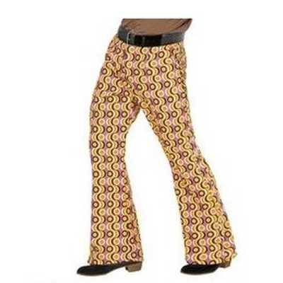 Heren hippie broek retro print maat xxl