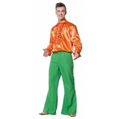 Hippie broek groen heren