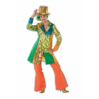 Hippie broek oranje dames