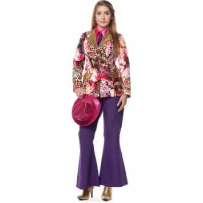 Hippie broek paarse dames