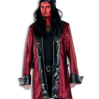 Horror jas rood zwart
