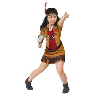 Indianen verkleed jurkje meisjes