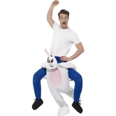 Instap dierenpak feest outfit konijn/haas volwassenen
