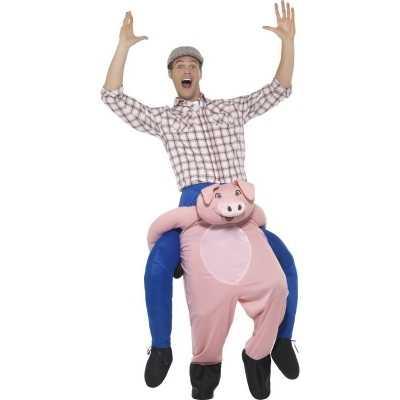 Instap dierenpak feest outfit varken volwassenen