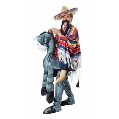 Instap feest outfit Mexicaan op ezel