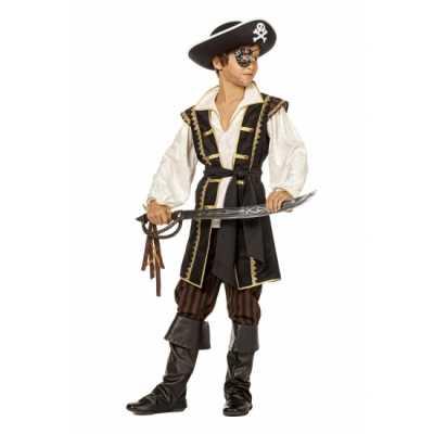 Jongens piraten feest outfit bruin