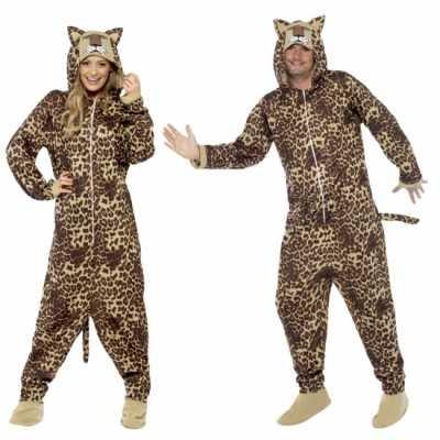 Jumpsuit luipaard all-one volwassenen