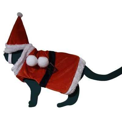 Katten / poezen kerstmanpakje hoed one size