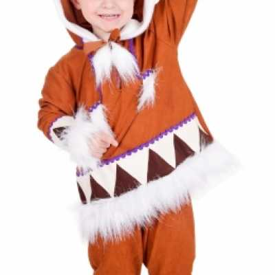 Kids eskimo feest outfit compleet