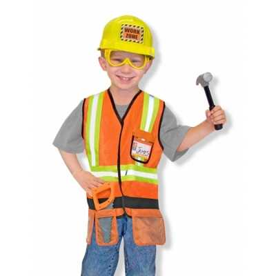 Kinder feest outfit bouwvakker