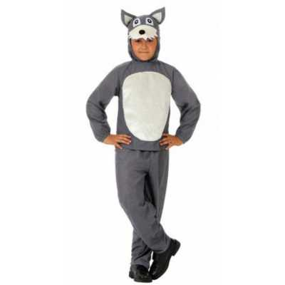 Kinder feest outfit grijs wolfje