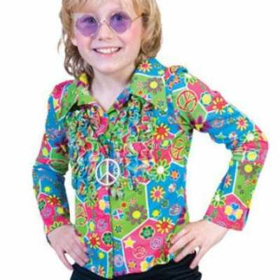 Kinder hippie shirt knopen