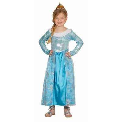 Kinderkostuum blauw prinses jurkje
