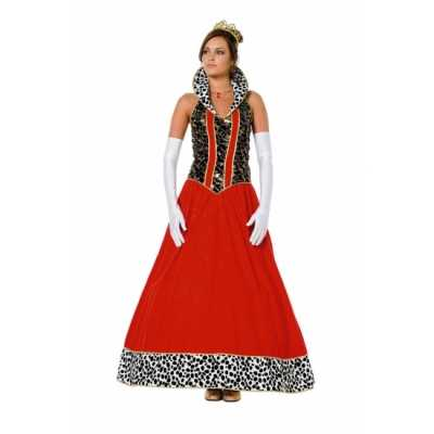 Koninginnen jurk rood vrouwen