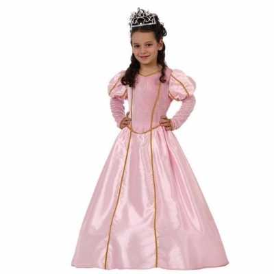 Lange roze prinsessenjurk meisjes
