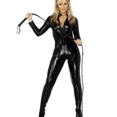 Lederlook outfitje zwart