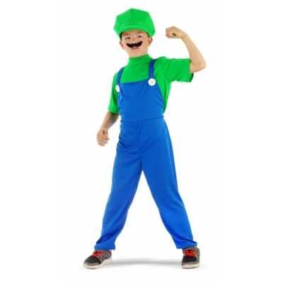 Loodgieter feest outfit groen jongens
