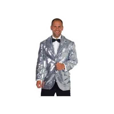 Luxe blazer zilver mannen