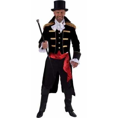 Luxe circus directeur outfit zwart heren 10064067