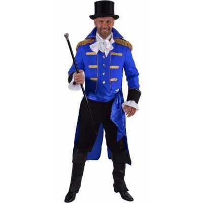 Luxe circus directeur outfit zwart heren