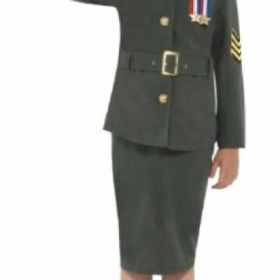 Meisjes army girl feest outfit groen