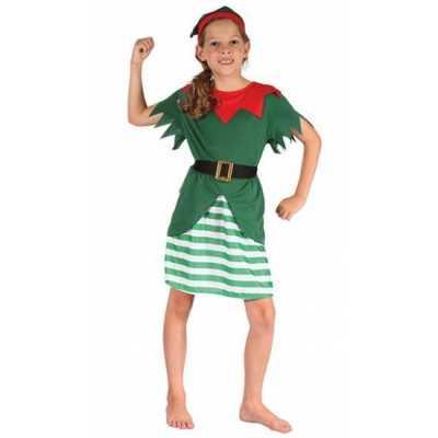 Meisjes kerstelf feest outfit