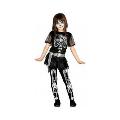 Meisjes skelet jurk glitters