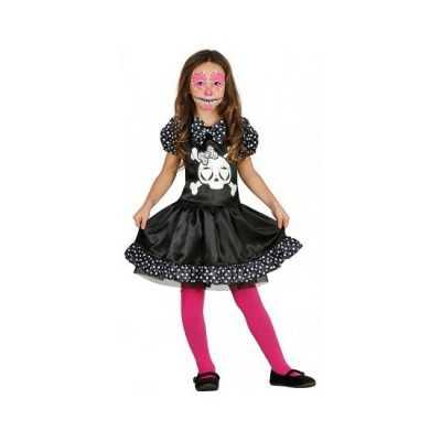 Meisjes skelet jurk stippen