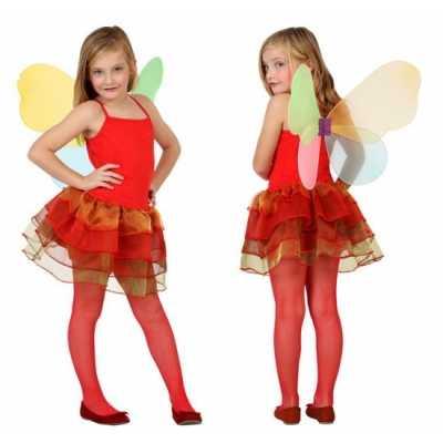 Meisjes vlinder feest outfit rood