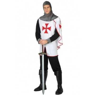 Middeleeuwse kruistocht ridder verkleed feest outfit heren