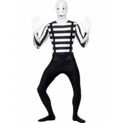 Mime artiest second skin feest outfit