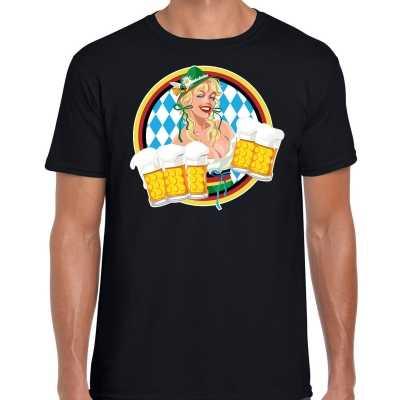Oktoberfest / bierfeest drank fun t shirt / outfit zwart beierse kleuren heren