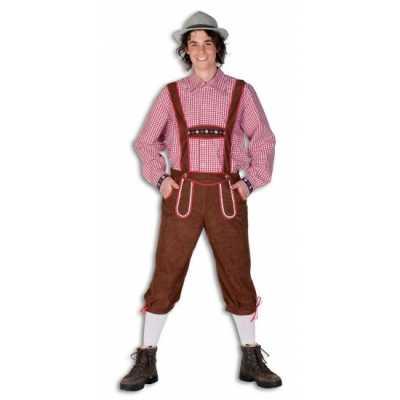 Oktoberfest bruine lederhose heren
