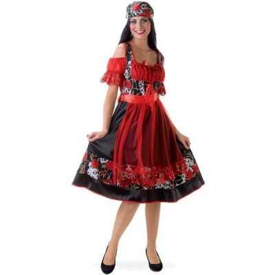 Oktoberfest jurkje rood zwart