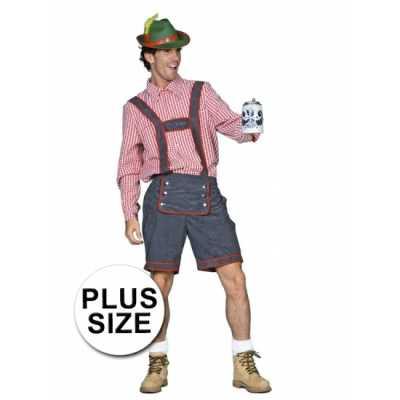 Oktoberfest Tiroler lederhose grote maat
