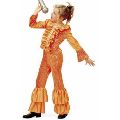 Oranje glitter outfit meisjes