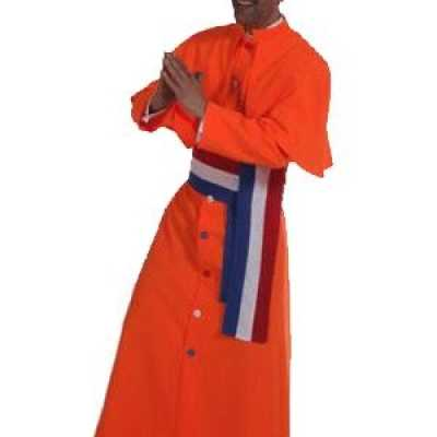 Oranje kardinaal feest outfit heren