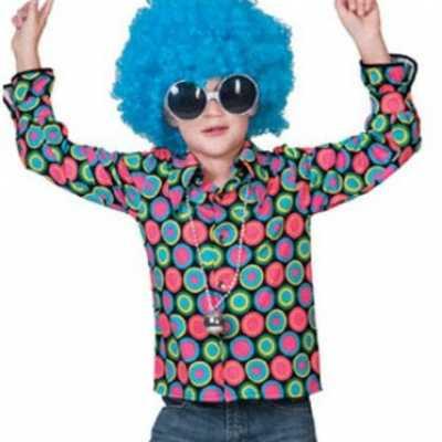 Overhemd 70s disco print kinderen