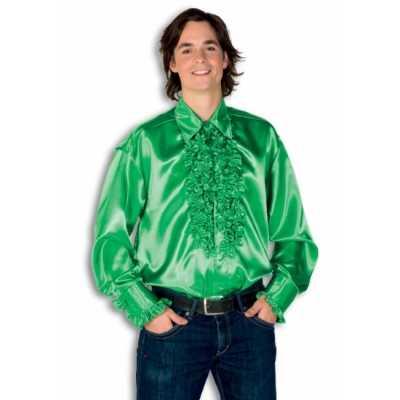 Overhemd groen rouches heren