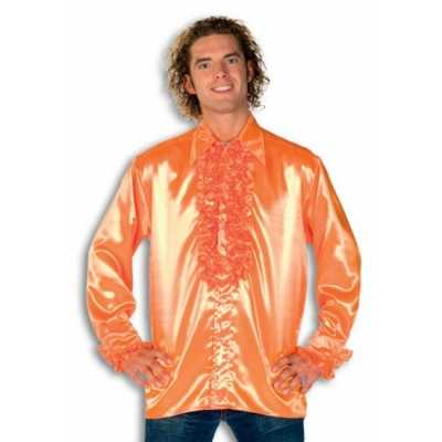 Overhemd oranje rouches heren