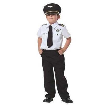Piloot verkleed feest outfit jongens