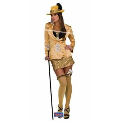 Pimp outfit goud dames